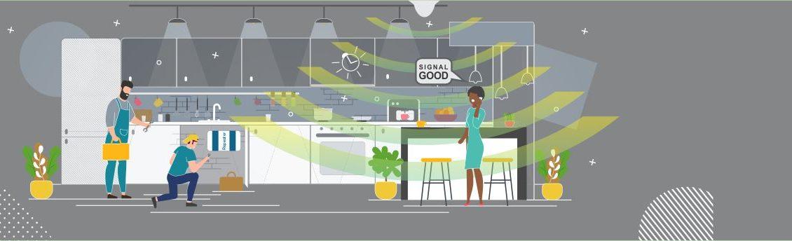 Indoor Repeater Penguat Sinyal Kitchen Room