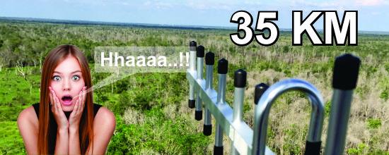 Berapa Jauh Tangkapan Antenna Outdoor…????? Wauuuu 35 Kilometer