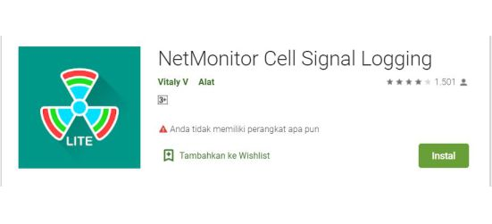 Cara Membaca Sinyal di Aplikasi Net Monitor